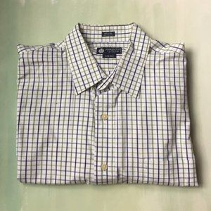 J Crew Plaid Button Down Men's